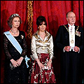 President Kirchner with King Juan Carlos and Queen Sofia