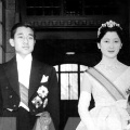 Akihito and Michiko on their wedding day