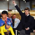 Prince Frederik at the track cycling event