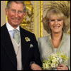 The Prince of Wales and the Duchess of Cornwall at their 2005 wedding