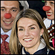 Princess Letizia with clowns from the Medical Smile Association