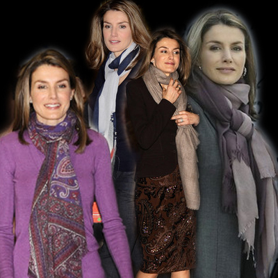 Letizia's favourite winter accessory