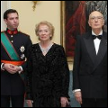 The Hereditary Grand Duke with the Italian Presidential Couple