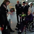 Crown Princess Mathilde meets hospital patients