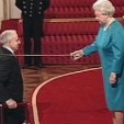 Queen Elizabeth II performing a knighting