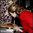Infanta Elena signs the guest book at the Basilica