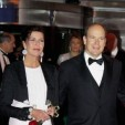The Princess of Hannover and Prince Albert II at the Rose Ball