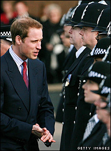 Prince William at the graduation ceremony