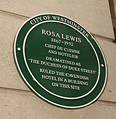 Commemorative plaque to Rosa Lewis