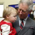 Prince Charles with the Welsh two-year-old