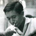 Prince Akihito smoking