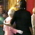Michelle Obama hugs the Queen