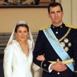 The Prince and Princess Asturias on their wedding day