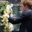 Prince Harry lays a wreath at Ground Zero in New York City