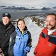 Frederik, Victoria and Haakon in Svalbard in 2008