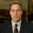 Screencap: Prince William during his bid video