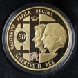 The King and Queen of the Belgians' wedding anniversary coin