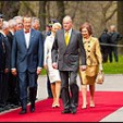 The Royal Couple are welcomed by the Estonian President and First Lady
