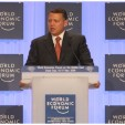King Abdullah II of Jordan speaks at the forum