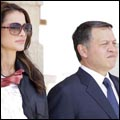 King Abdullah and Queen Rania at the air show