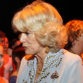 Camilla at White Lodge, with ballet dance brooch
