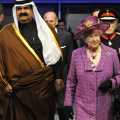 Sheikh Hamad and Queen Elizabeth II at South Hook