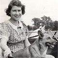 Princess Elizabeth and corgi