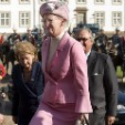 Queen Margrethe at the welcoming