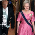 Queen Margrethe at the gala dinner