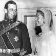 The Duke of Kent and Miss Katharine Worsley on their wedding day