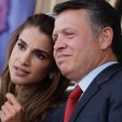Queen Rania and King Abdullah II at the anniversary celebrations
