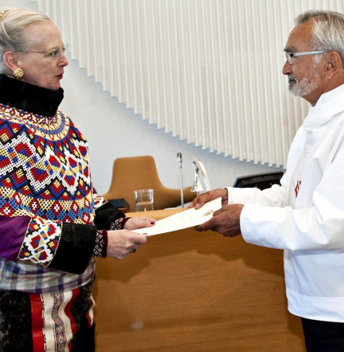 Queen Margrethe II transfers self-government laws to the Chairman of Greenland's Parliament