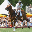 Prince Harry during the polo match in New York
