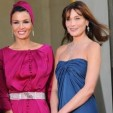 Sheikha Mozah and Carla Bruni-Sarkozy