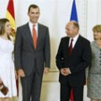 The Asturias couple with the Romanian President and First Lady