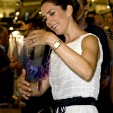 Princess Mary admires a necklace at CIFF, August 2009