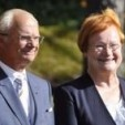 King Carl Gustaf and President Halonen during the arrival ceremony