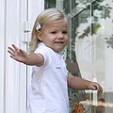 Infanta Sofia on her way to kindergarden