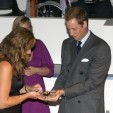 Prince William holding Sarah at the Darwin Centre opening