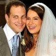 Lord and Lady Frederick Windsor on their wedding day