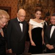 The King and Queen with the Italian Presidential Couple during the gala