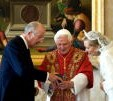 The King and Queen with the Pope