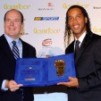 Prince Albert with Ronaldhino