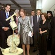 Queen Sofia at the exhibition