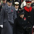 Queen Elizabeth II, Prince William and Prince Harry at the 2009 Remembrance Day service