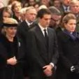 Princess Léa and her son and daughter at the service