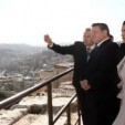 King Abdullah and Queen Rania at the citadel