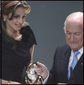 FIFA President presents the FIFA Presidential Award to Queen Rania
