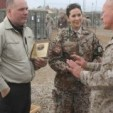 Princess Mary speaks with a soldier in Afghanistan