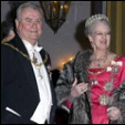 Prince Henrik and Queen Margrethe at the Court